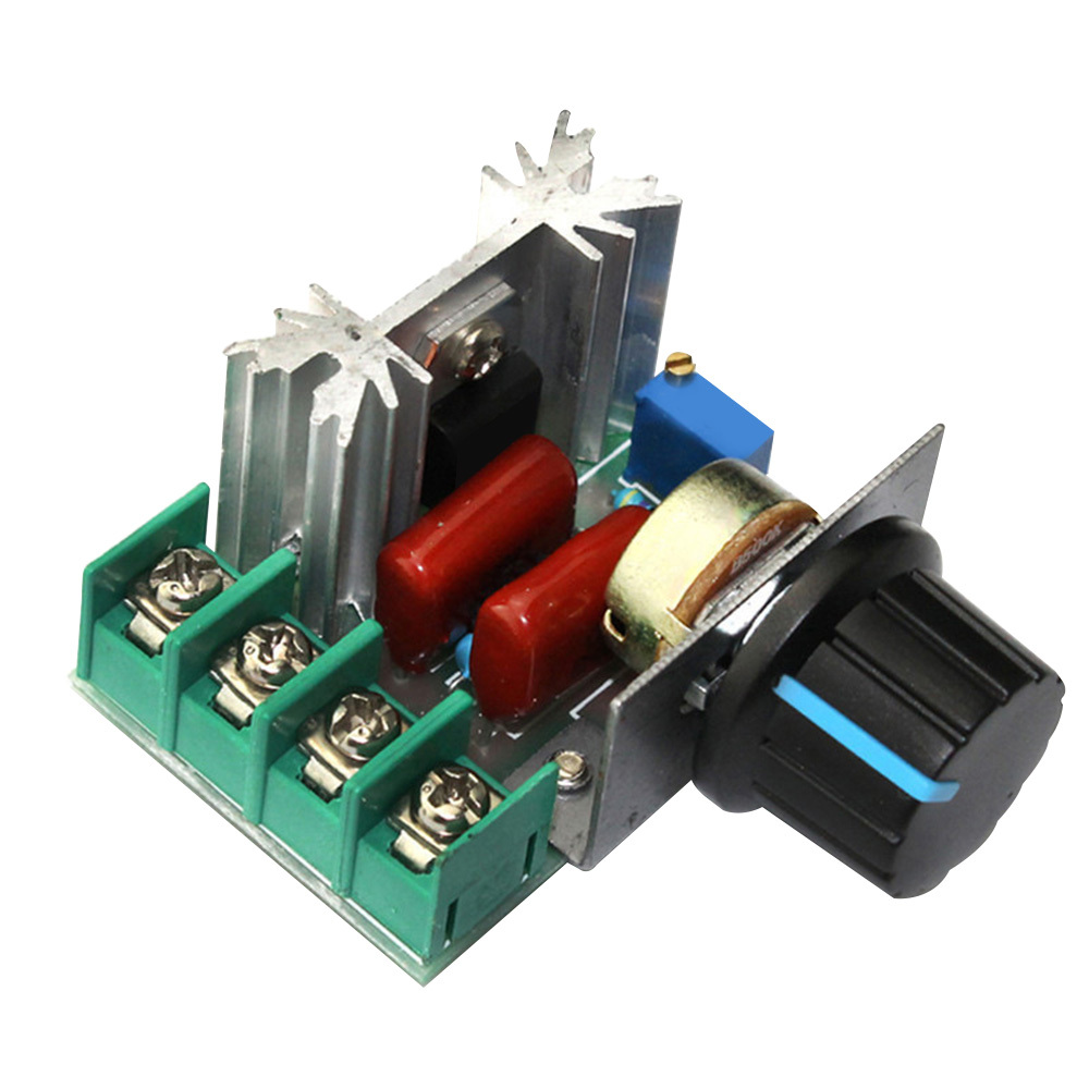 2000W AC 220V Lamps Voltage Regulator Thermostat RPM Speed Controller Thyristor Dimmer For The Speed Of Fans Lamps Motors