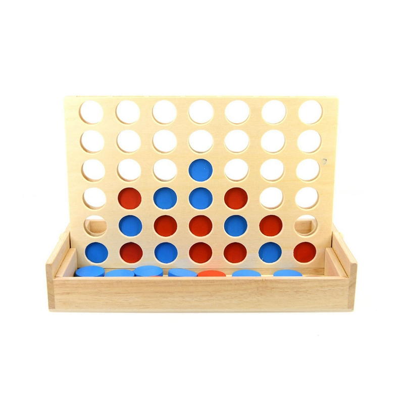 Hot Four In A Row Wooden Game Line Up 4 Classic Family Toy Board Game For Kids And Family Fun Toys