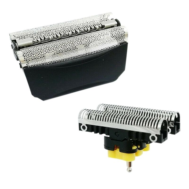 2PCS for BRAUN Combi Pack 30B 310 330 Shaver Shear Head Blade & Blade Block
