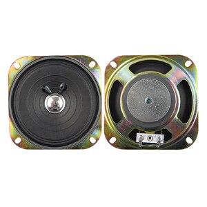 2 pçs 4 Polegada som de áudio magneticamente mini alto-falante 5w 8 ohm gama completa alto-falante papel borda bacia amplificador casa teatro