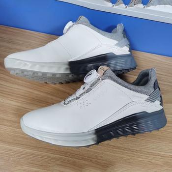 Nowe oryginalne buty golfowe dla pań białe oryginalne skórzane damskie buty do chodzenia wodoodporne damskie trampki do golfa marki Gym Shoe Lady tanie i dobre opinie Mangobox CN (pochodzenie) WOMEN Masaż Stretch Spandex Średnia (B M) RUBBER vvvs Sznurowane Dobrze pasuje do rozmiaru wybierz swój normalny rozmiar