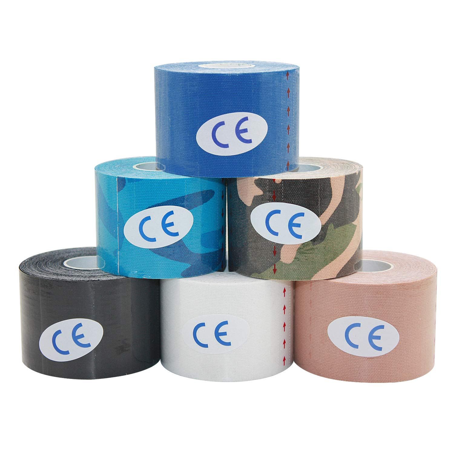 10Rolls 5cm*5m Therapeutic Sports Kinesiology Tape Waterproof Elastic Muscle Tape for Weightlifting Shoulder Knee Elbow Ankle