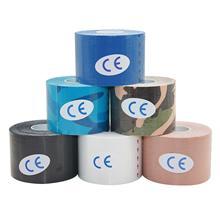 10 рулонов 5 см* 5 м терапевтический Спортивная Кинезиология лента Водонепроницаемый эластичный спортивный пластырь для мышц для тяжелой атлетики плеча для коленного сустава;