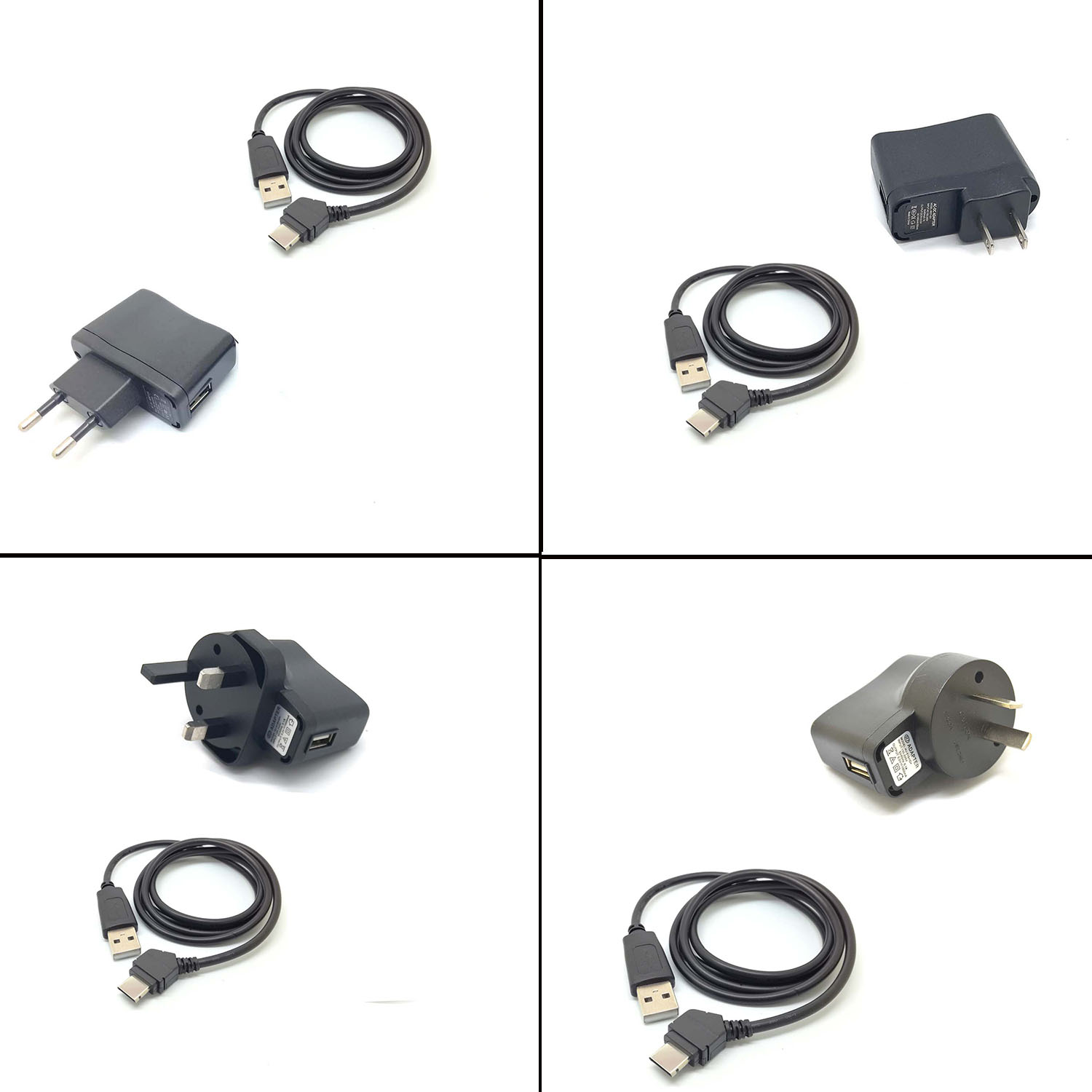 USB data CABLE wall CHARGER for <font><b>SAMSUNG</b></font> SGH-A707 A717 D807 / D806 D830 D840 D900 Black Carbon <font><b>E250</b></font> E900 F300 i607 BlackJack image