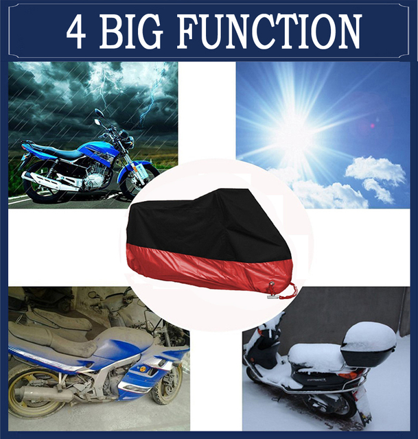 Motorcycle cover universal Outdoor UV Protector Scooter All Season waterproof Bike Rain Dustproof cover M L XL 2XL 3XL 4XL 190T