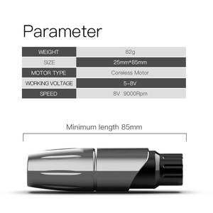 Image 3 - Dragonhawk TOP Beginner Tattoo Machine Set Kit Motor Rotary Pen Power Needles