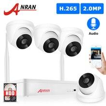 ANRAN H.265 1080P SISTEMA DE CCTV inalámbrico 2MP cámara de Audio IP al aire libre NVR grabador de vídeo sistema de cámaras de seguridad Kit de vigilancia