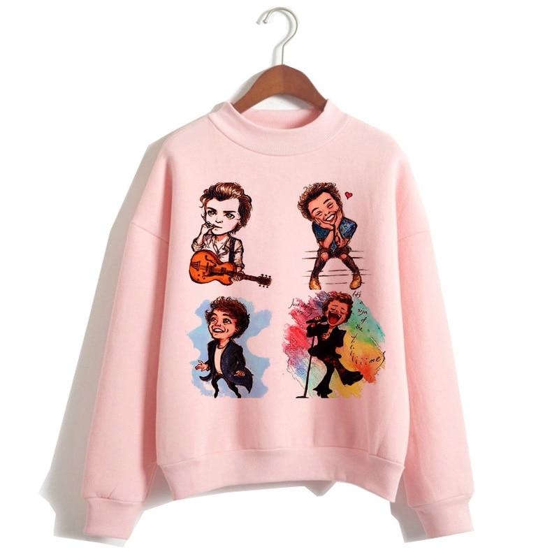 Harry Styles Women Hoodie Streetwear Oversized Print O-Neck Sweatshirt Hood Ulzzang Hooded Hip Hop Pullovers Femme Clothes