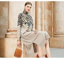 Женское платье в стиле ретро zuoman повседневное свободное с