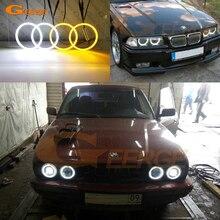 Для BMW E30 E32 E34 отличный ультра яркий двойной цвет переключение led Ангельские Глазки drl halo Кольцо сигнал поворота