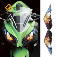 Для Kawasaki ninja 250 300 аксессуары для мотоциклов передняя обтекатель наклейка на фару Защитная Наклейка на фары защита