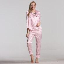 女性のパジャマシルクパジャマ女性のための 7 個パジャマ冬セクシーな pijamas 女性ソフト甘いかわいいナイトウェアパジャマセット