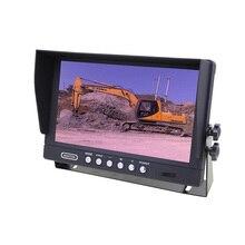 9 zoll TFT Lcd 2CH Wired Digital Farbe Display Dashboard Split Screen SD Card Erweiterung Rückansicht Lkw Monitor Mit spiegel