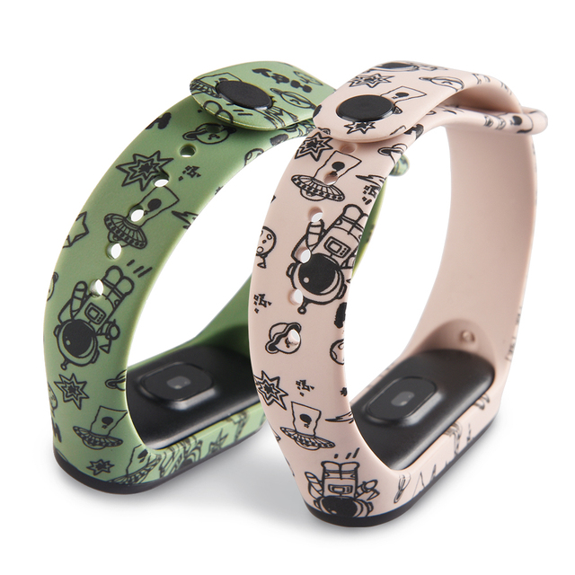cartoon strap of Xiaomi Mi Band 5 4 6 3 Strap Fashion Soft Silicone strap band 4 5 3 Bracelet Wristband For xiomi band 5 6 strap 5