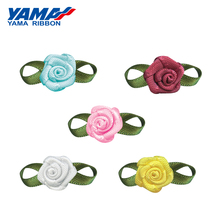 YAMA Foliage Rose Flower Diameter 10mm±2mm Leaf 22mm±3mm 200pcs/bag Satin Ribbon for Baby Hair Bow Gift Crafts Wedding Party