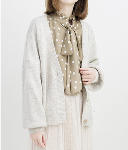 Image 5 - Женский Повседневный Кардиган с длинным рукавом PEONFLY, однотонный шерстяной Теплый свитер свободного покроя на осень и зиму