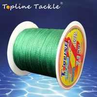 Topline Tackle Braided Fishing Line 0.1mm-0.5mm Diameter Braided 4Strand pe Fishing Line 100M 300M Carp Fishing Thread Saltwater