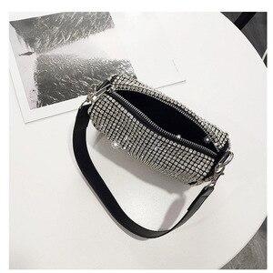 Image 3 - Women Bag 2019 Diamonds Designer Bag High Quality PU Crossbody Fashion mini shoulder Bags Ladies purses and handbags New Style