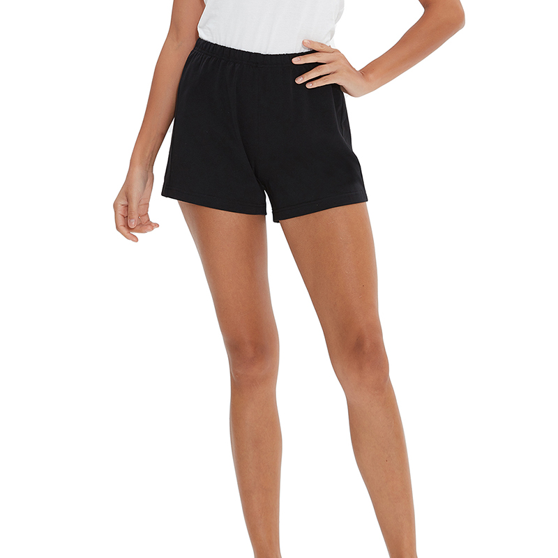 Loose   shorts   black blue casual running summer ladies pocket   shorts