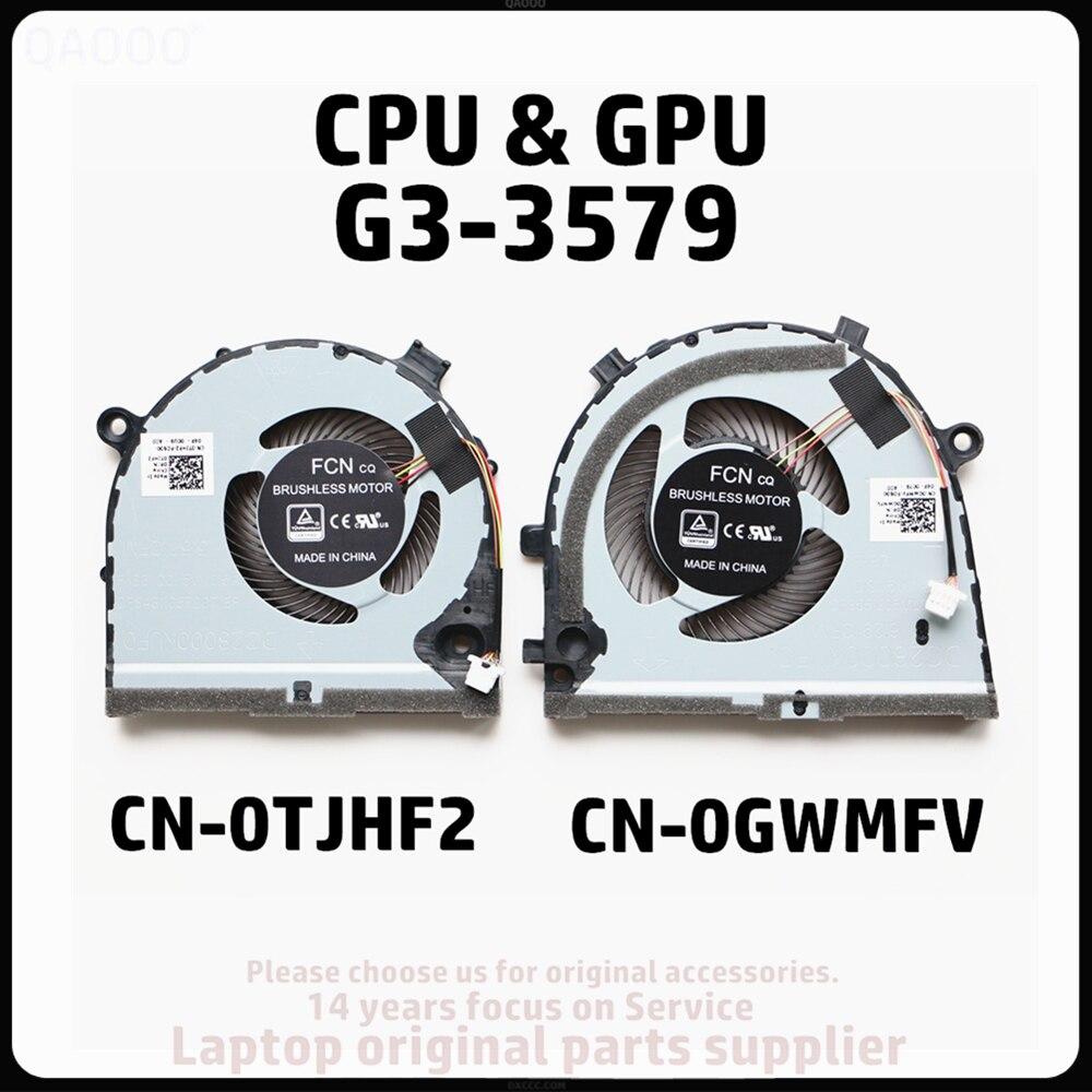 Substituição do portátil cooler fan para dell ins G3-3579 cpu ventilador de refrigeração CN-0TJHF2 CN-0GWMFV fcn dfs481105f20t fkb6