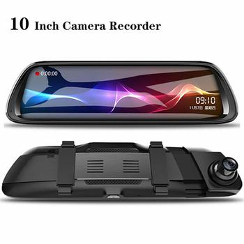 Car DVR 10 Android RearView Mirror 9.66 Full Screen 1080P ADAS Dash Cam Camera Video Recorder Auto Registrar Dashcam GPS DVRS image