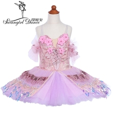 children lilac fairy doll performance ballet tutu adult professional sleeping beauty pancake skirt BT9242