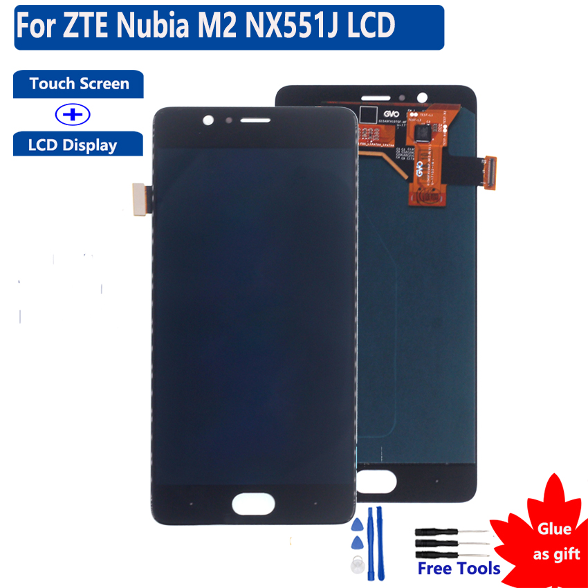 Super Amoled M2 Touch Screen LCD Display Digitizer Assembly For ZTE Nubia M2 <font><b>NX551J</b></font> Touch Screen LCD Display image