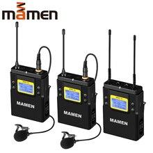 MAMEN WMIC-01, профессиональный беспроводной микрофон с приемником, 50 каналов, 60 м Диапазон, конденсаторный микрофон для камер, телефонов