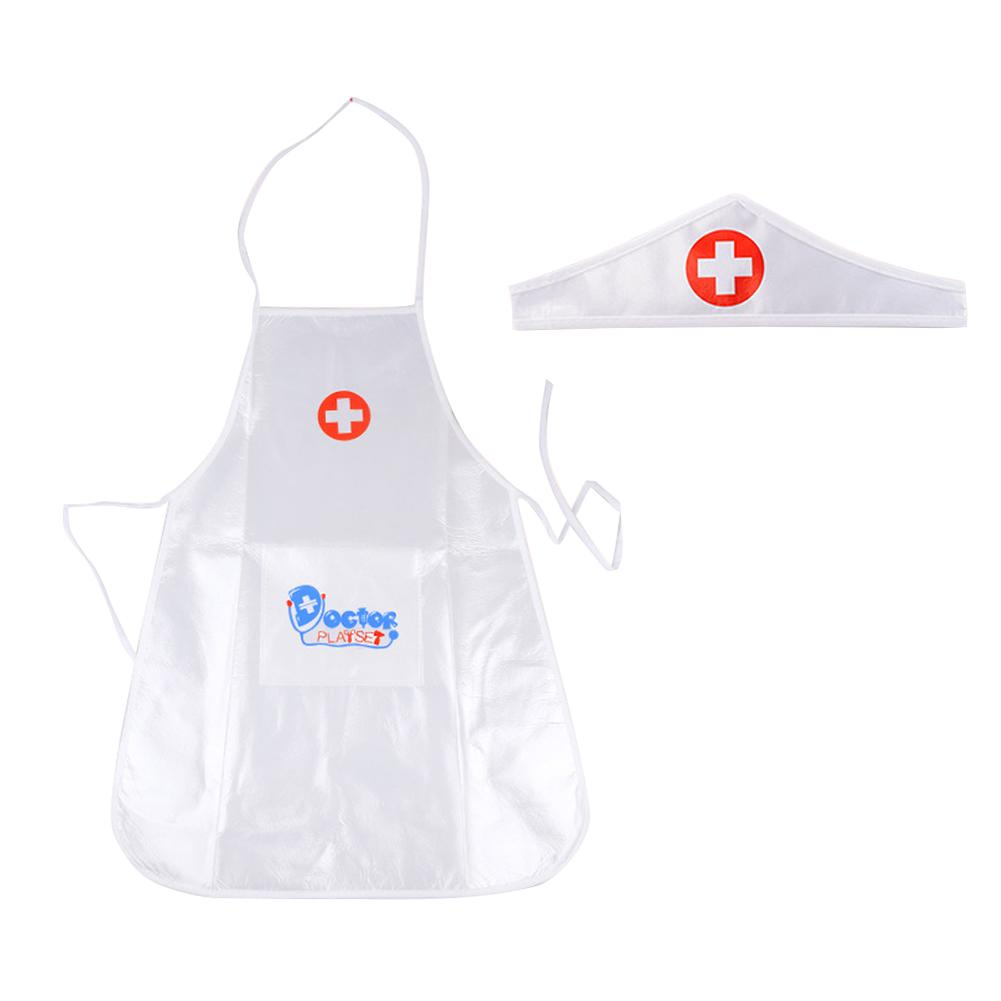Children's Role Play Medical Uniforms Clothes Simulation White Lab Coat Doctor Hospital Fancy Dress Costume For Kids Play House