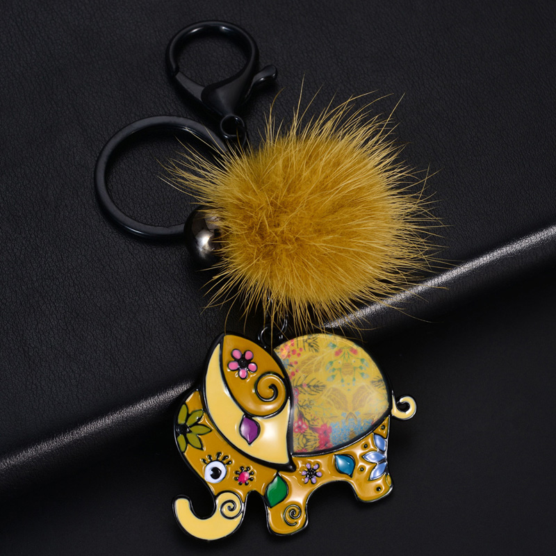D&Rui Jewelry 2019 Top Design Metal Animals Elephant Keychain Trendy Bags Car Pendant Key Chain Rings For Men And Women Keyring