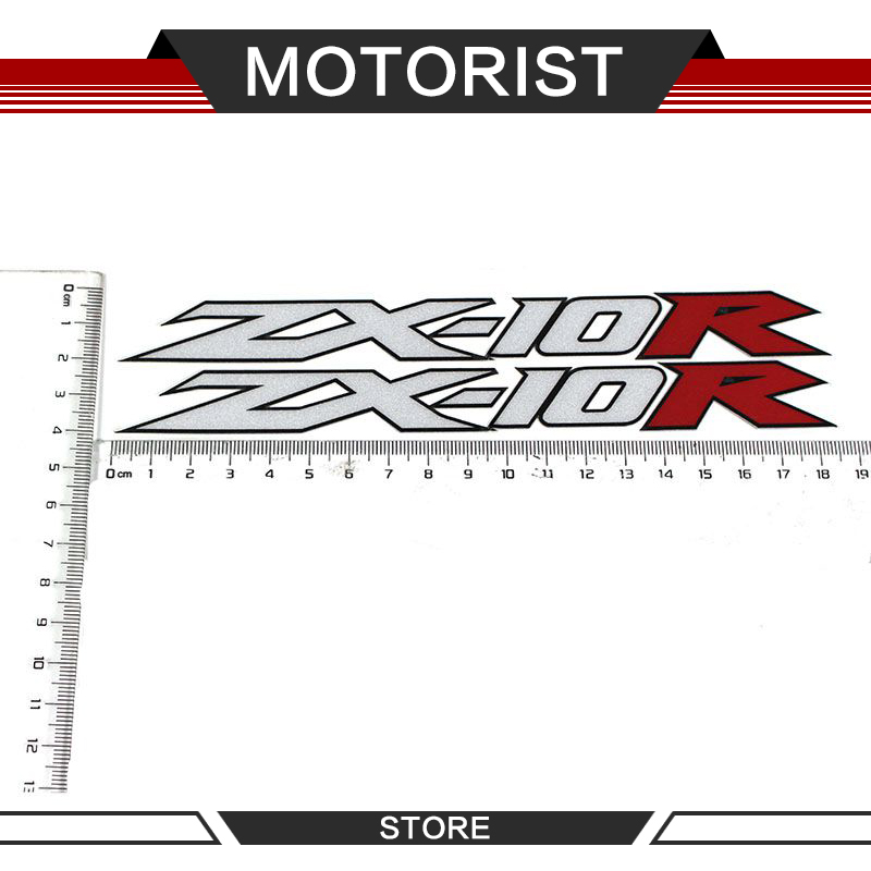 Motorcycle Logo REFLECTIVE Stickers FAIRING Decals For KAWASAKI ZX10R ZX-10R ZX 10R