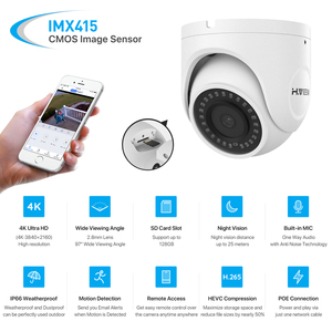 Image 3 - H.View 4K Ultra HD Video Surveillance kit 8MP poe ip camera Set 8CH Dome Security Camera CCTV System H.265 Audio Record Nvr