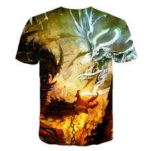 ¡Verano 2020 nuevo! Camiseta con estampado 3D de monstruo malvado superventas, Camiseta de cuello redondo de dragón abstracto ps