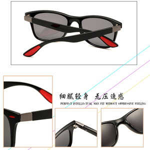 Image 3 - 2019 Nieuwe Klassieke Gepolariseerde Zonnebril Mannen Vrouwen Rijden Vierkante Frame Zonnebril Mannelijke Goggle UV400 Driver bril Nacht Bril