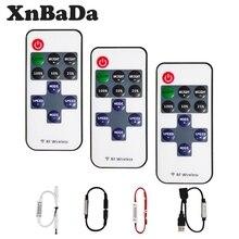 Mini 11Keys RF Wireless Led Remote Controller Led Dimmer Controller For Single Color Light Strip SMD5050/3528/5730/3014 DC5-24V