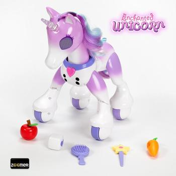 Zoomer Enchanted Unicorn Toy Multi-Coloured Light-Up Horn Toy for Children Aged 5 and Up комод saga ingvar coloured body light
