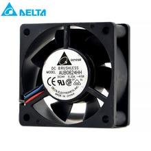 original for delta AUB0624HH 6025 6cm 60X60X25MM 24V 0.22A 6CM Inverter Radiator Fan new original dv6224 2 24v original plug inverter fan 55kw 75 90kw