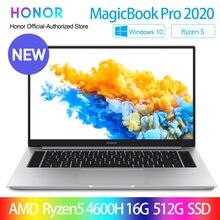 Ordinateur portable HONOR MagicBook Pro 2020, nouvel ordinateur 16.1 AMD Ryzen 5/7 4600H/4800H, SSD PCIE FHD