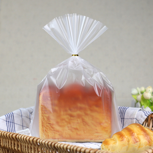Image 5 - LBSISI Life 100pcs Plastic Bags Transparent Bag For Toast Bread Soft Frosted Food Packaging Baking Christmas Party