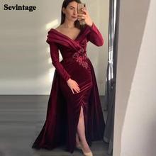 Sevintage плиссированное платье с v образным вырезом бархатные