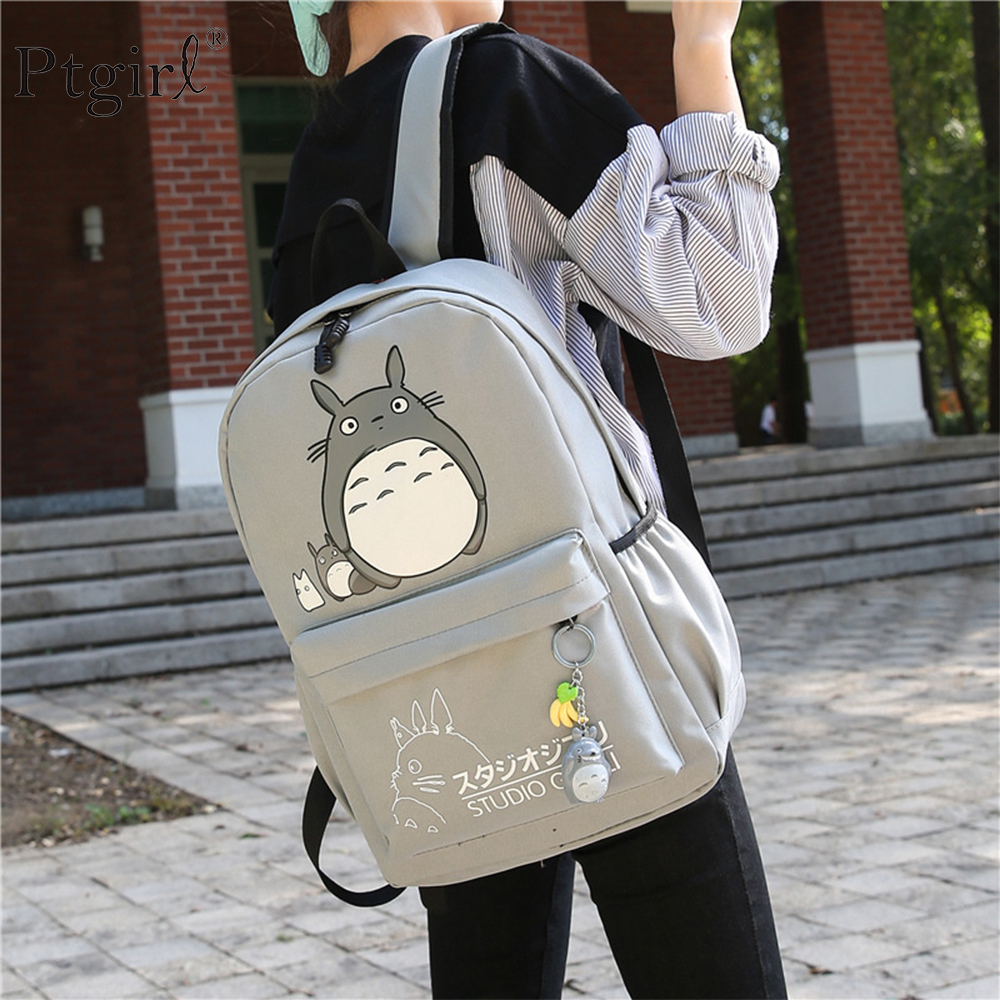 Drop Shipping Totoro Backpack 3D Printing Travel Softback Women Mochila Ptgirl School Backpack Notebook For Girls рюкзак женский