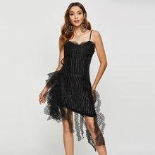 Сексуальный в европейском стиле вечернее платье для женщин Спагетти