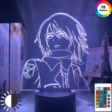 Ackerman-Lamp Attack Titan Mikasa Anime Light Desk-Lamp-Battery Room-Decor Bedside Cool