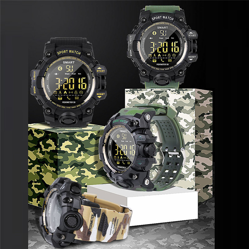 EX16S Multifunction Waterproof Smart Watch Remote Camera For Android For IOS