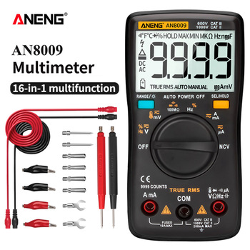 цены ANENG AN8009 True-RMS Digital Multimeter transistor tester capacitor tester automotive electrical capacitance meter temp diode