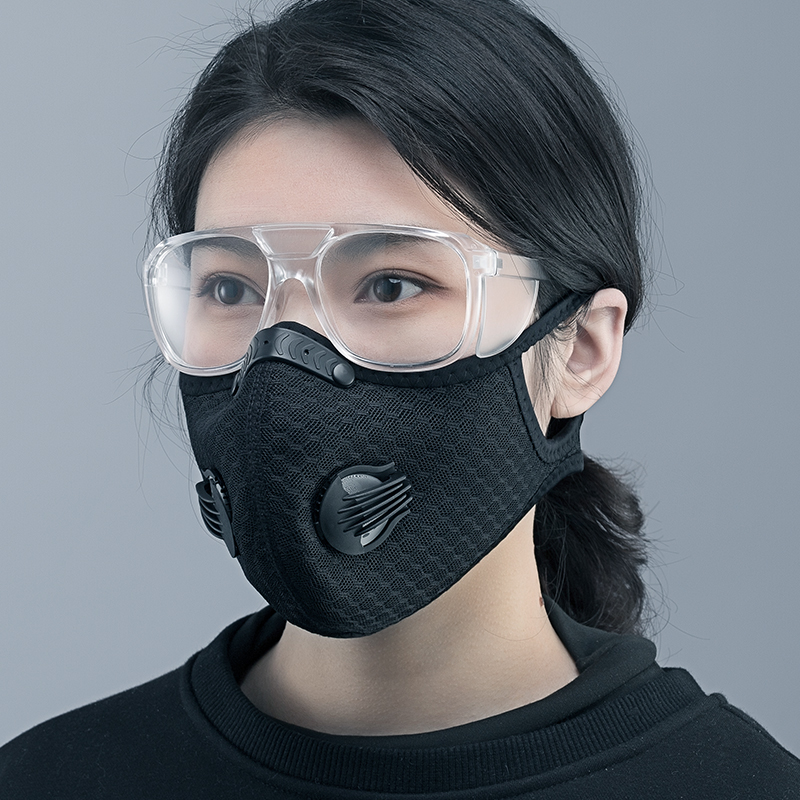 ROCKBROS KN95 Cycling Face Mask Breathable Sport Face Mask Protection Anti-fog Anti-splash Dust Mask Filter Gas Mask Respirator