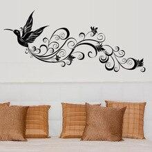Любовь гость стиль SK9082 Летающий силуэт птицы спальня для гостиной, стеклянная декорация фона съемные наклейки на стену