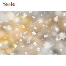 Yeele Wallpaper Photocall Bokeh Lights Snowflake Photography Backdrops Personalized Photographic Backgrounds For Photo Studio