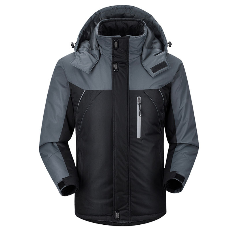 Thick Warm Cotton-padded Clothes Ski Suit Hooded Mountaineering Travel Walking Outdoor Raincoat Jacket Sports