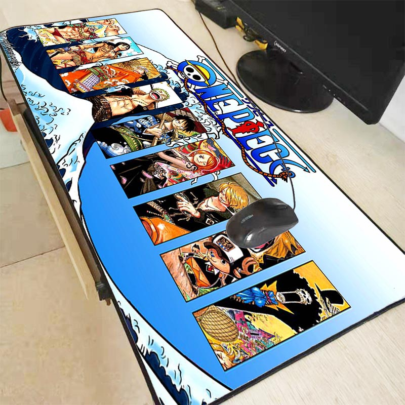 Mairuige 90*40cm One Piece Mouse Pad Gaming Mouse Pad Large Cartoon Anime Rubber Mouse Pad Keyboard Mat Table Mat PC Mousepads